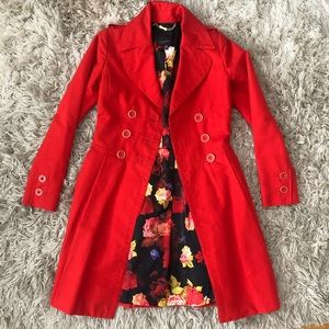 STUNNING! Ted Baker Red Amorina Coat